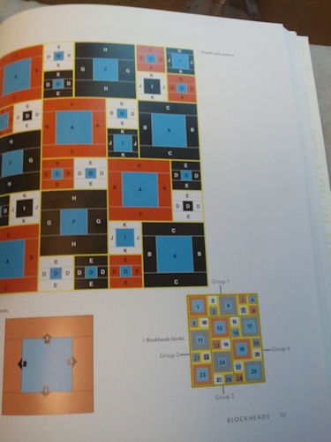 Page showing how to piece the quilt